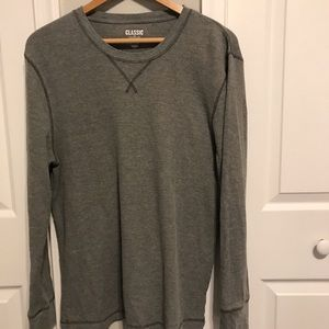 Old Navy Classic Crew Neck Henley. Gray. Size L